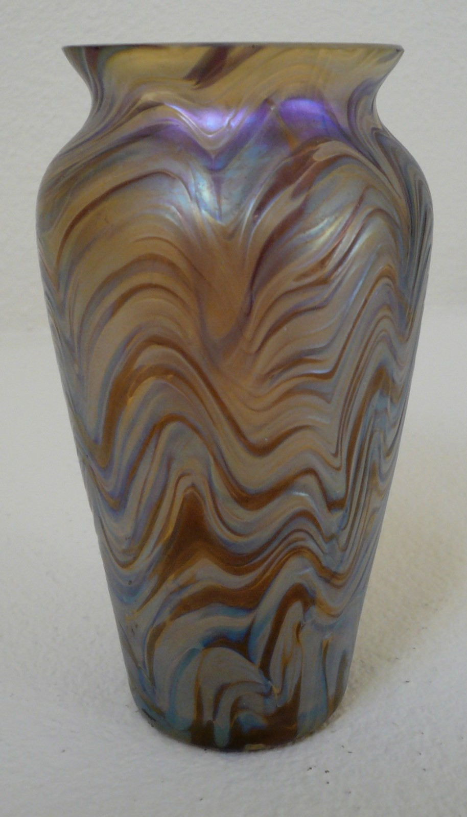 Thegildedcurio kralik glass vase corrugated and banded with thegildedcurio kralik glass vase corrugated and banded with mild iridescence reviewsmspy